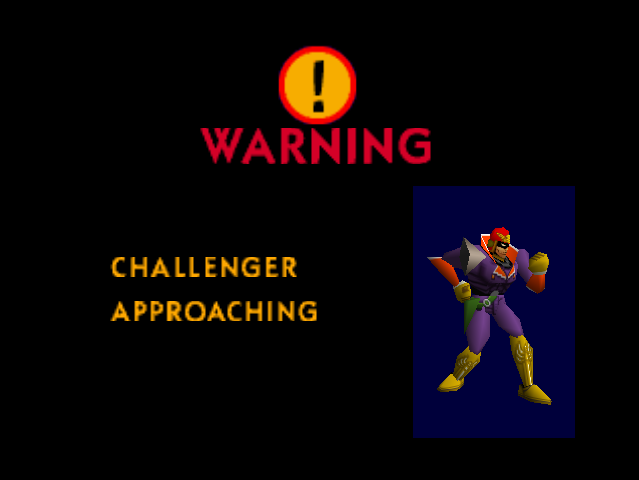 Challenger Approaching Captain Falcon (SSB64)