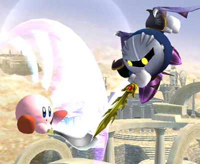 Kirby vs. Meta Knight gameplay (Brawl)