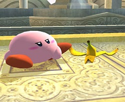 Super Smash Bros. Brawl Kirby tripping