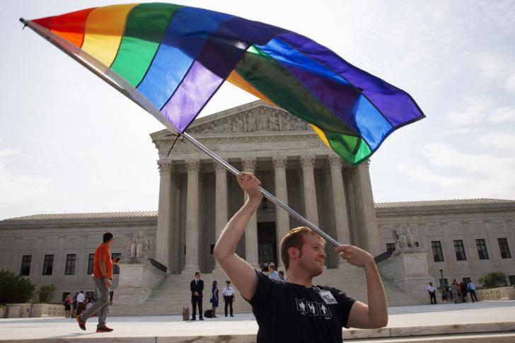Rainbow flag SCOTUS AP Jacquelyn Martin