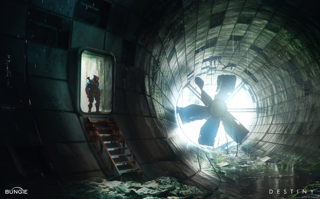 Destiny Earth Russian Cosmodrome tunnel breach concept art.jpg