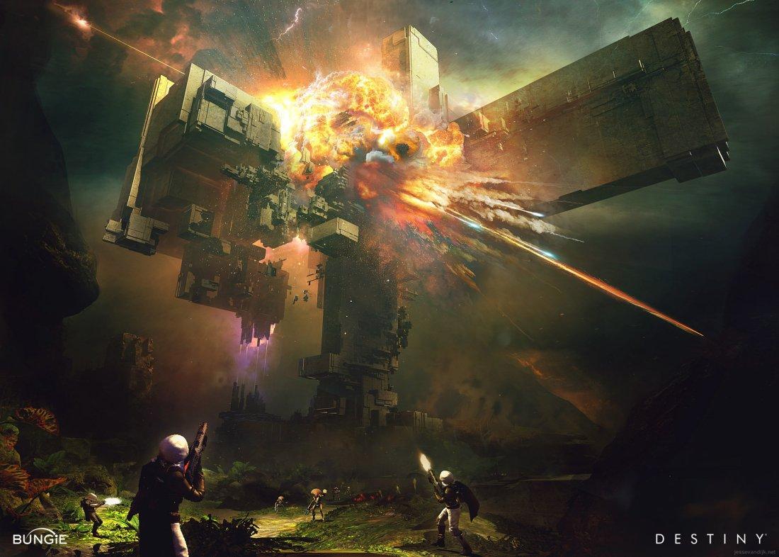 Destiny Venus Vex Citadel explosion concept art.jpg