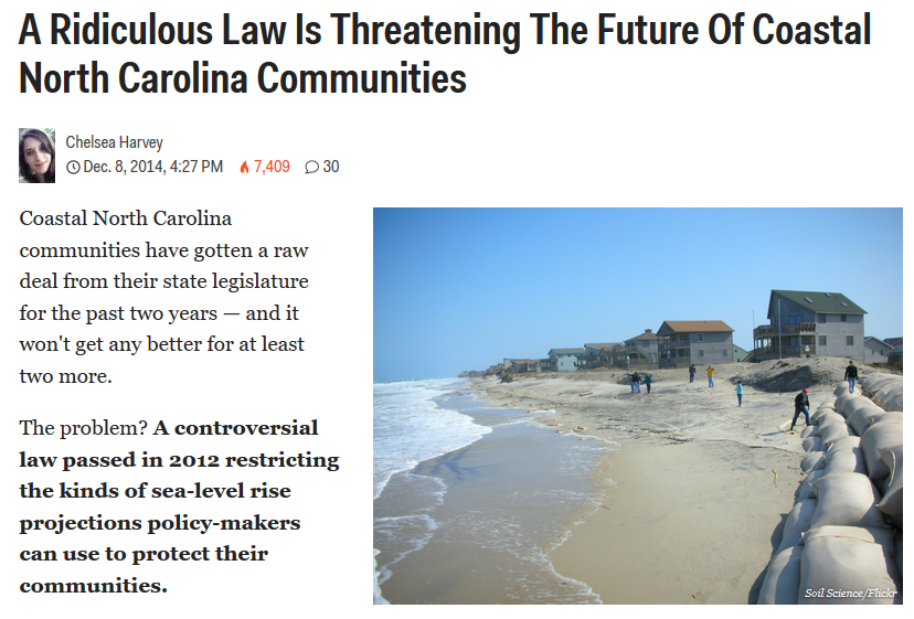 Business Insider NC Sea Level Rise Study Ban